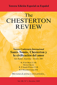 The Chesterton Review en Espa�ol / 3