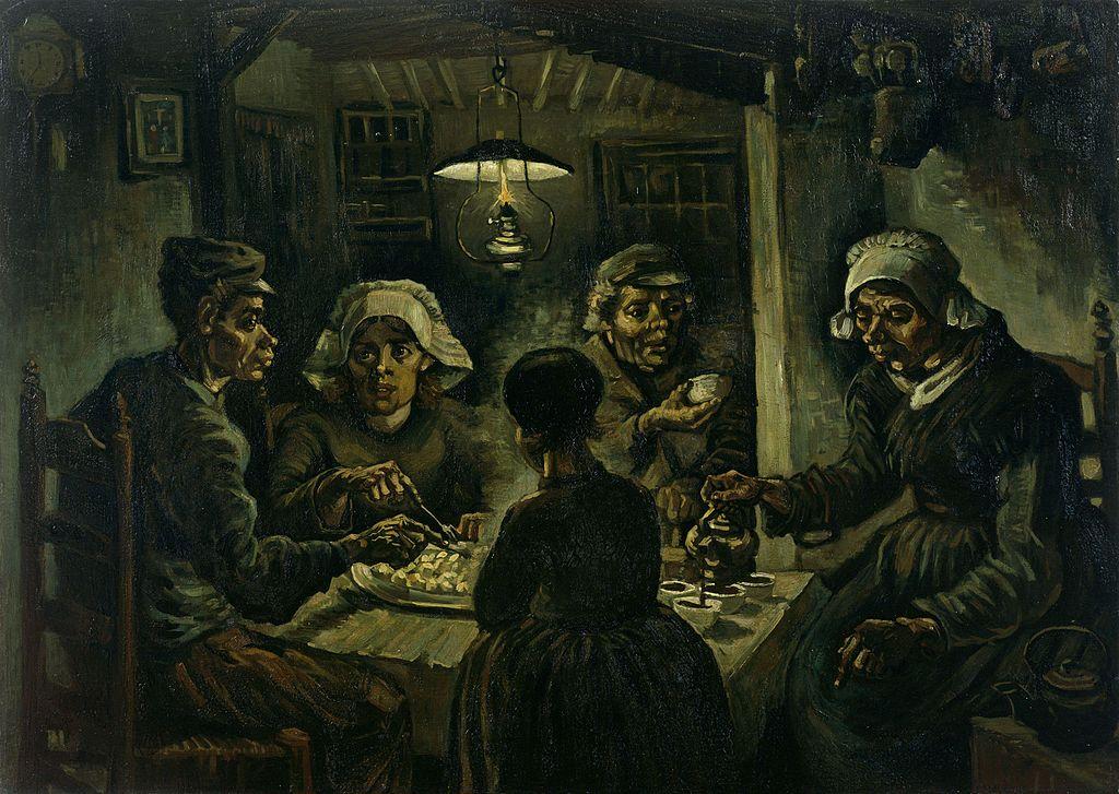 Los comedores de patatas. V. van Gogh