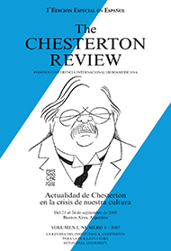 The Chesterton Review en Espa�ol / 1